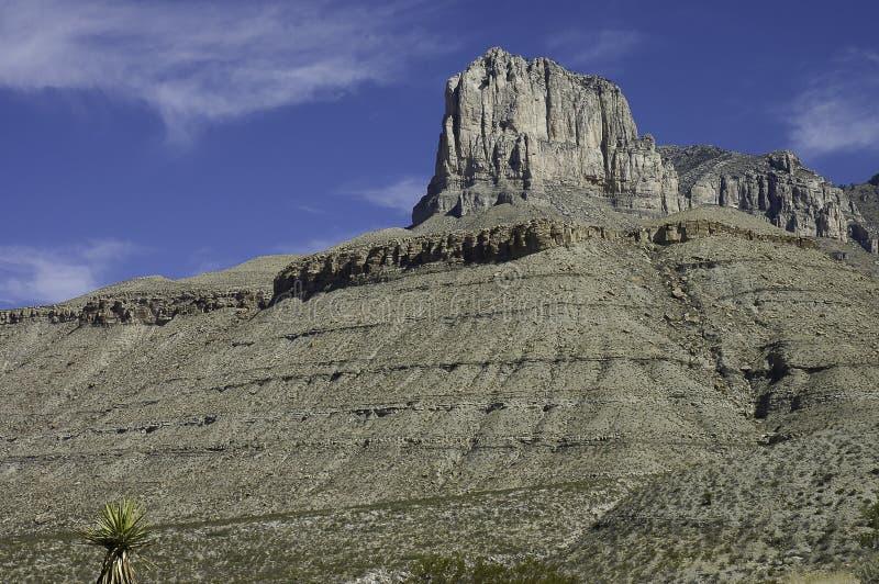 Formación de las montañas de Guadalupe foto de archivo libre de regalías