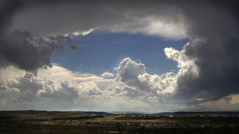Formación de las nubes imagen de archivo libre de regalías