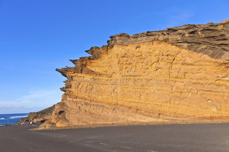 Formación de piedra volcánica en Lanzarote imagen de archivo