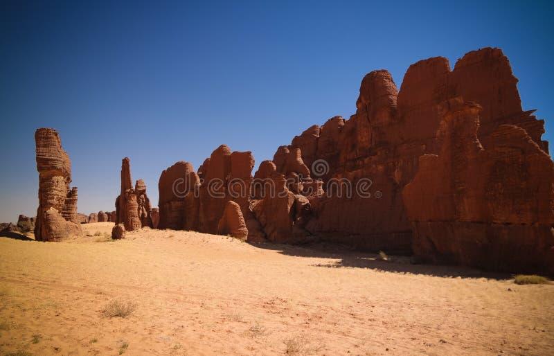 Formación de roca abstracta en el bosque de piedra de Ennedi de la meseta aka en República eo Tchad imagen de archivo libre de regalías