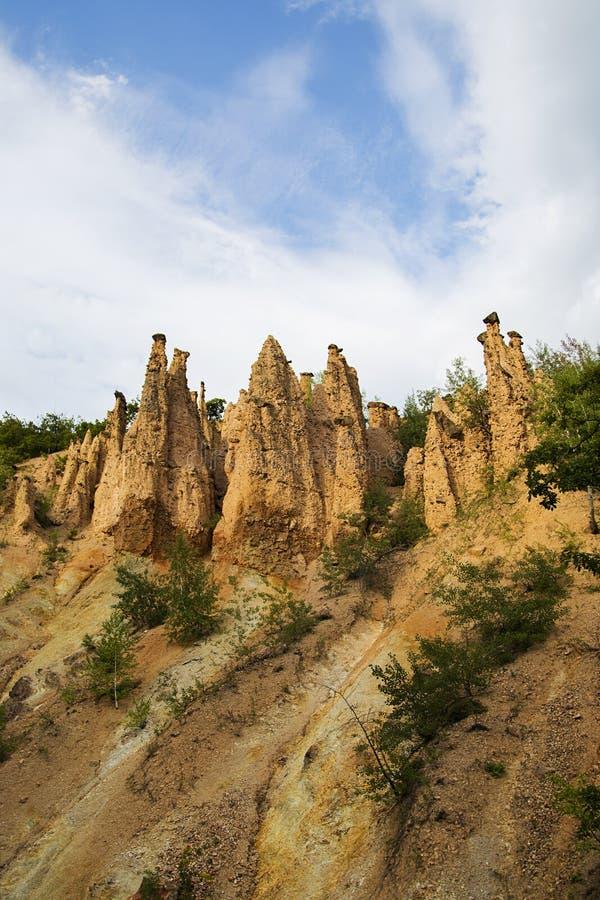 Formación de roca de la ciudad de los diablos en Serbia fotos de archivo