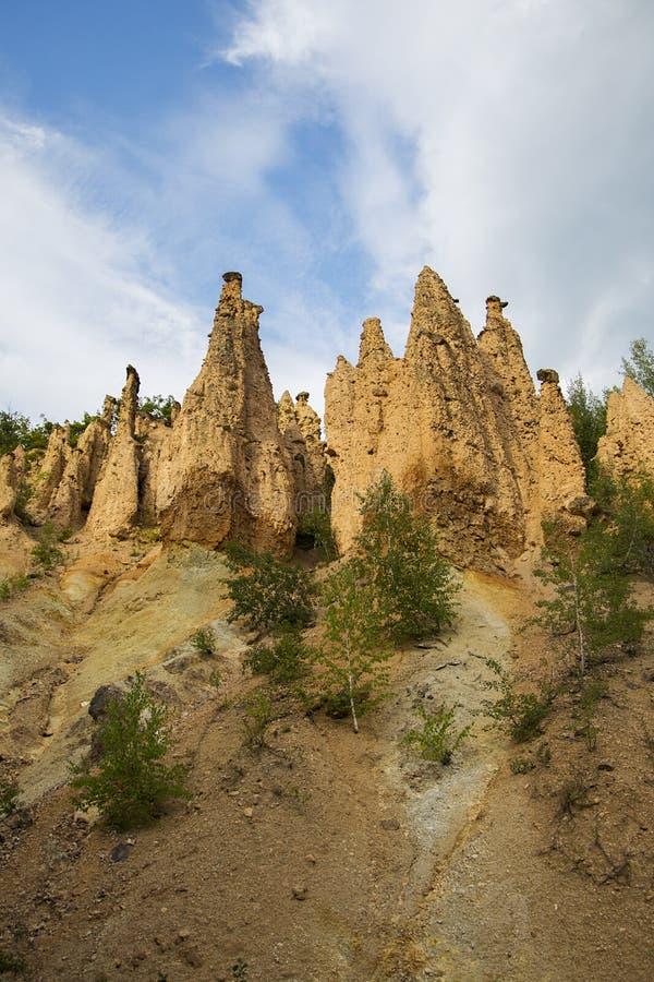 Formación de roca de la ciudad de los diablos en Serbia foto de archivo libre de regalías