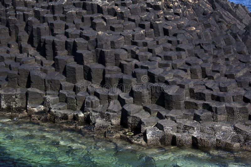 Formación de roca del basalto fotografía de archivo libre de regalías