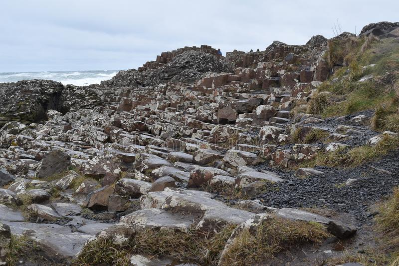 Formación de roca del basalto del terraplén de Giants foto de archivo libre de regalías