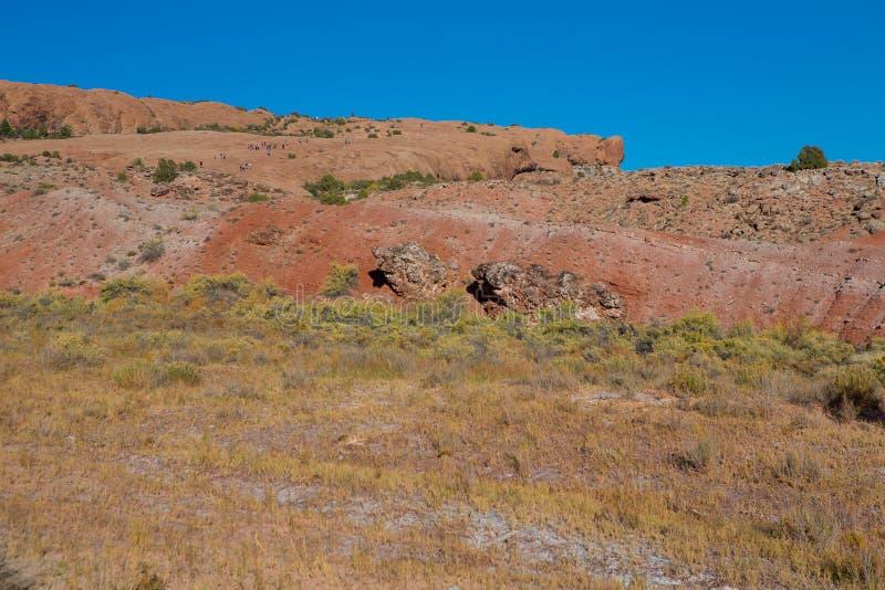 Formación de roca en el arco delicado, arcos parque nacional, Utah, los E.E.U.U. fotos de archivo libres de regalías