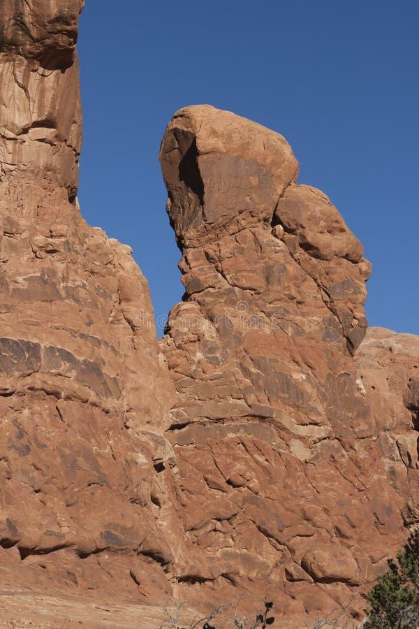 Formación de roca en el parque nacional de los arcos foto de archivo libre de regalías