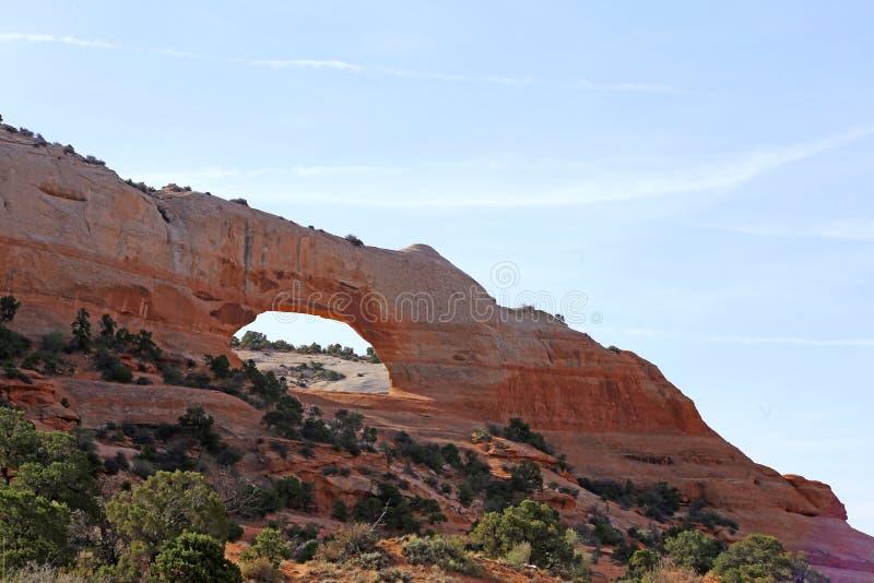 Formación de roca en el parque nacional de los arcos Paisaje, estado imágenes de archivo libres de regalías