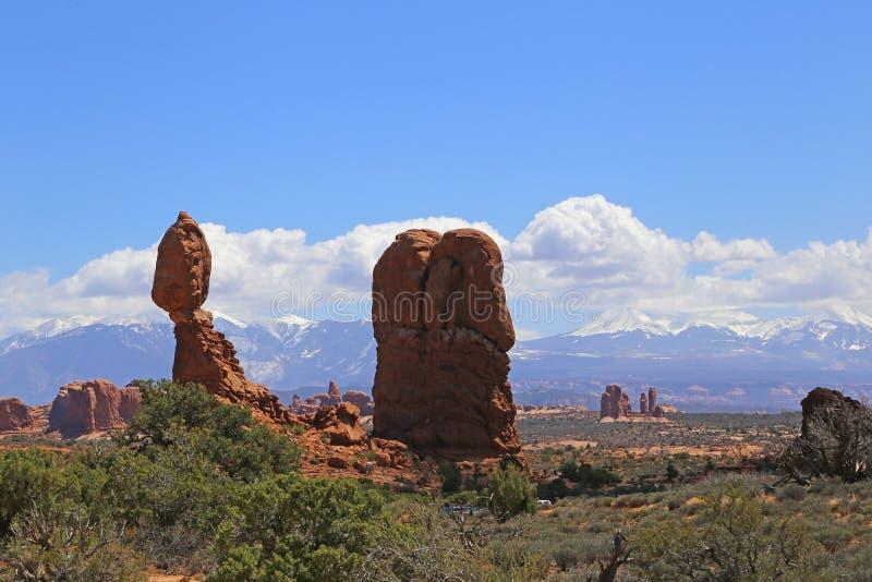 Formación de roca en el parque nacional de los arcos Paisaje, estado fotos de archivo libres de regalías