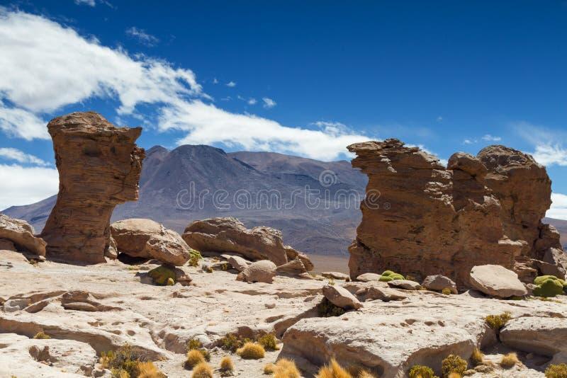 Formación de roca en Laguna Turquin imágenes de archivo libres de regalías
