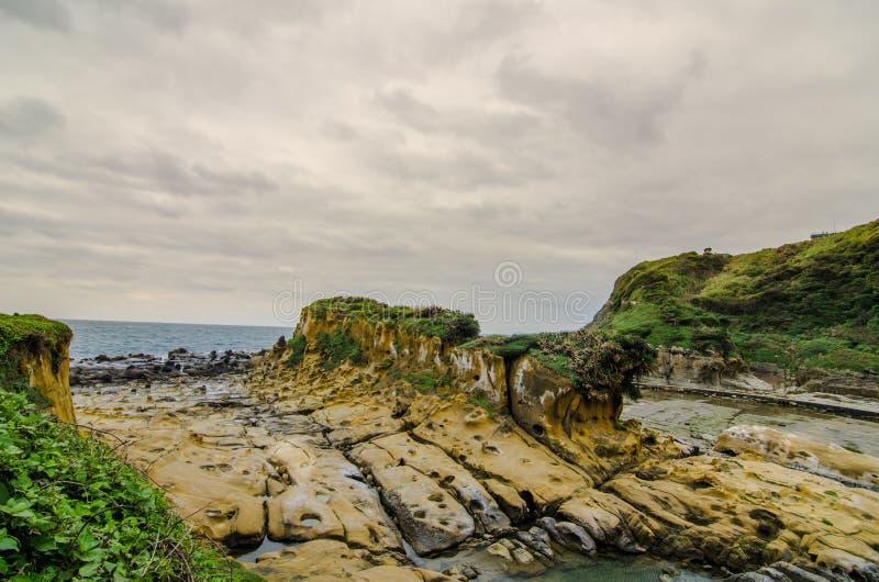 Formación de roca hermosa en la isla de la paz, Taiwán imagen de archivo