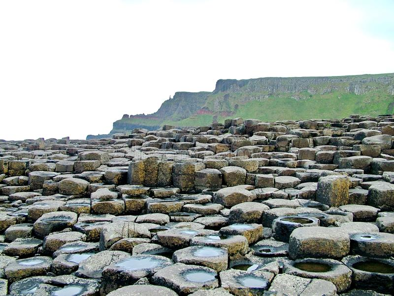 Formación de roca inusual en el terraplén gigante del ` s fotografía de archivo