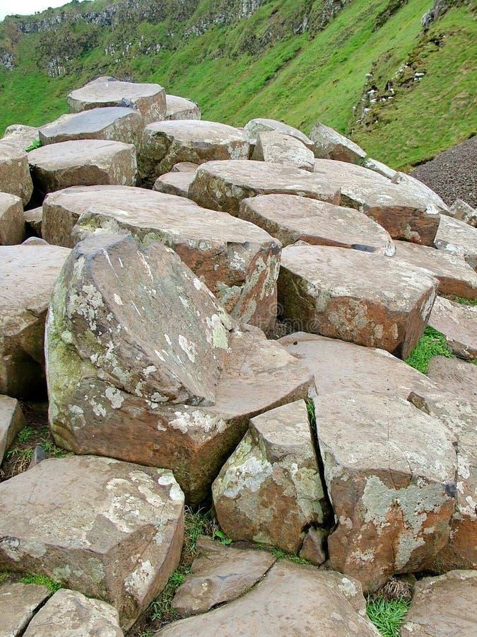 Formación de roca inusual en el terraplén gigante del ` s fotografía de archivo libre de regalías