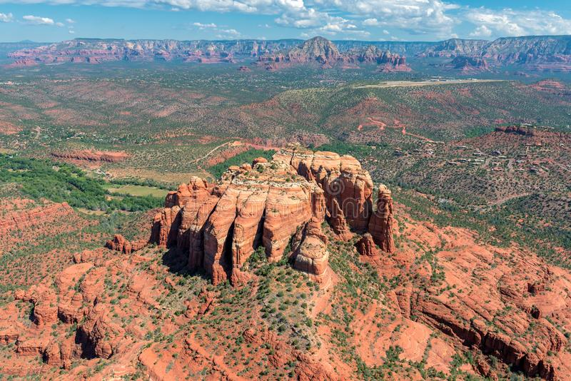 Formación de roca de la catedral en Sedona, Arizona foto de archivo libre de regalías
