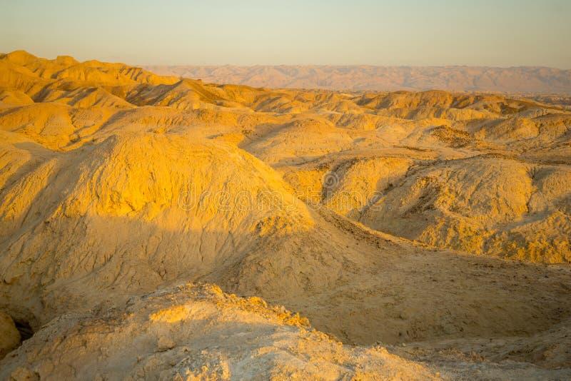 Formación de roca de Marlstone, en Neot HaKikar fotografía de archivo