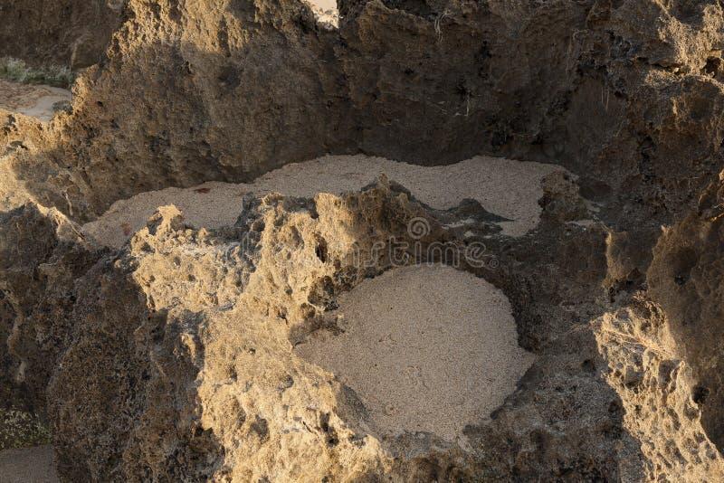 Formación de roca vista detalladamente imagen de archivo