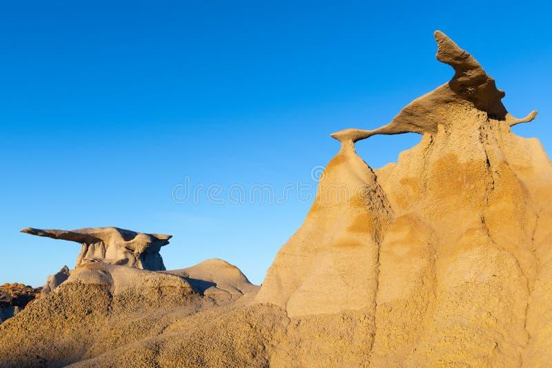 Formación de roca Wings en el área silvestre Bisti, Nuevo México fotos de archivo libres de regalías