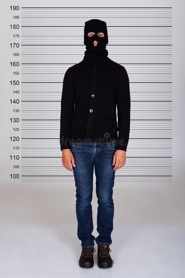 Formación de Standing Against Police del ladrón fotografía de archivo