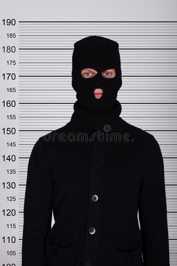 Formación de Standing Against Police del ladrón imagen de archivo