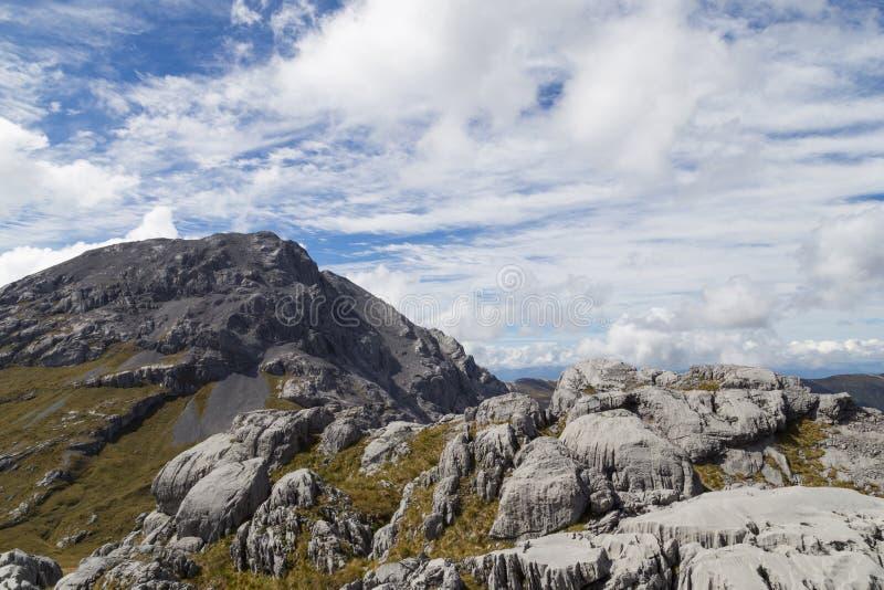 Formación del karst en el parque nacional de Kahurangi foto de archivo