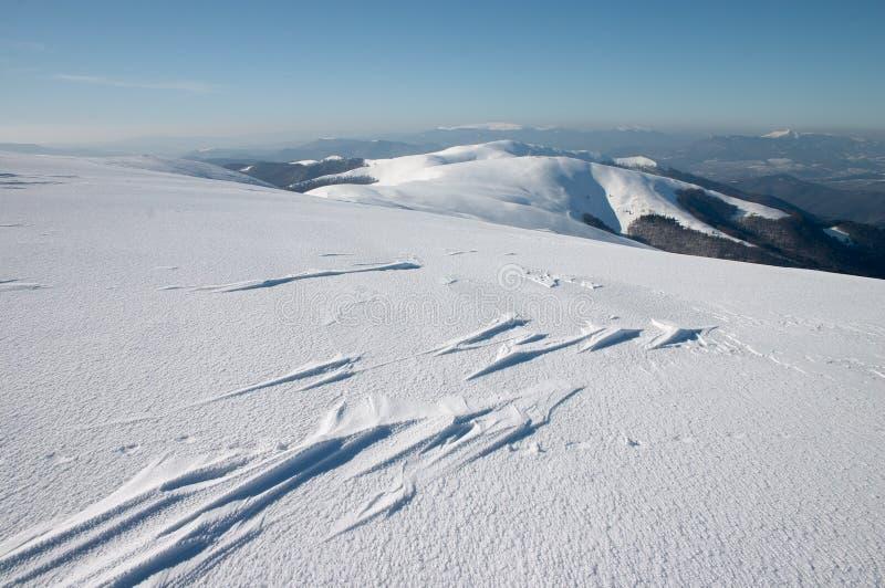 Formación del viento en nieve fotografía de archivo libre de regalías