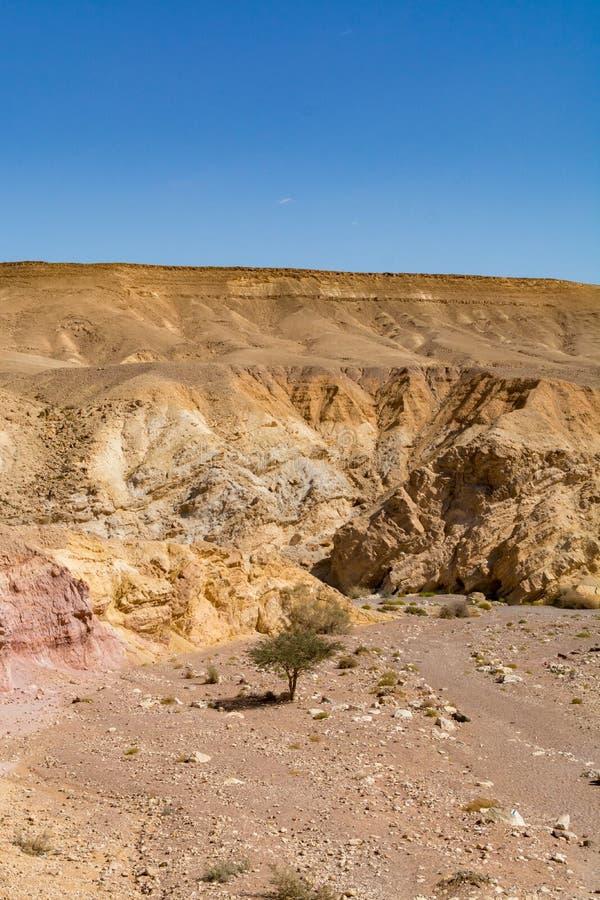 Formación geológica hermosa en el desierto, poder colorida de la piedra arenisca imagen de archivo