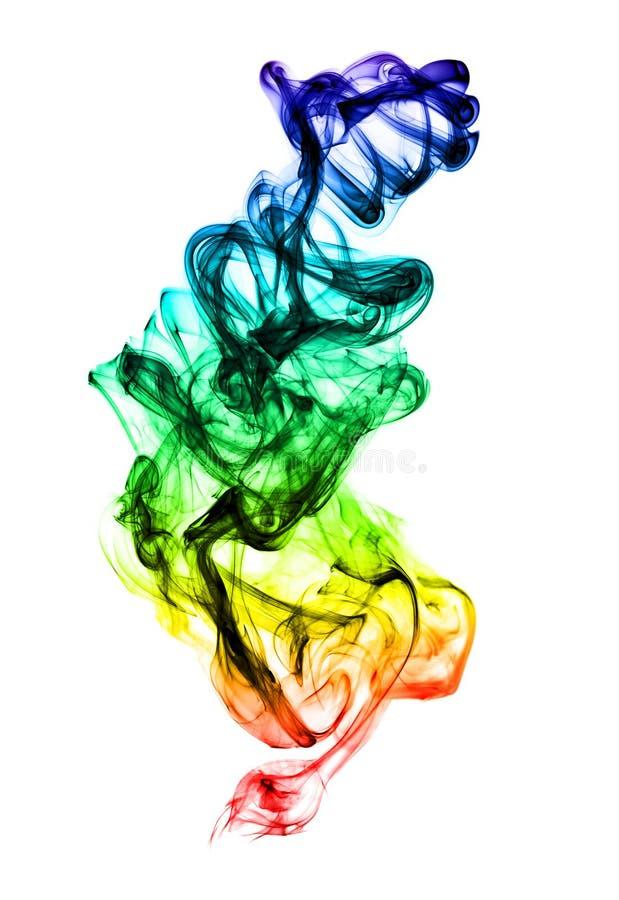 Formación multicolora del humo en blanco fotografía de archivo libre de regalías