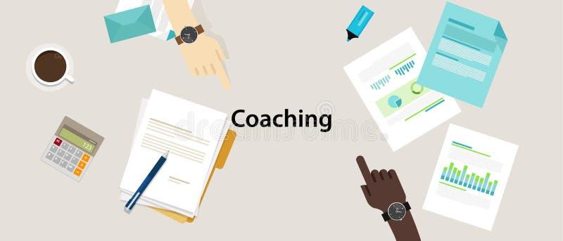 Formación para la administración profesional del negocio que entrena stock de ilustración