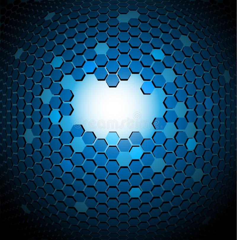 formación técnica abstracta 3D ilustración del vector