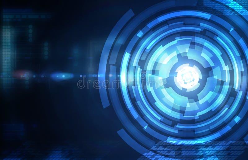 Formación técnica azul marino abstracta stock de ilustración