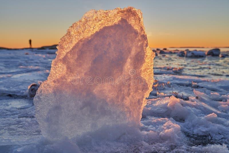 Formaciones de hielo por el mar Báltico foto de archivo libre de regalías