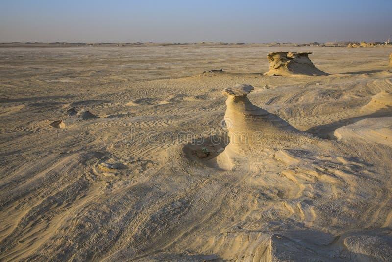 Formaciones de la arena en un desierto cerca de Abu Dhabi imagen de archivo libre de regalías