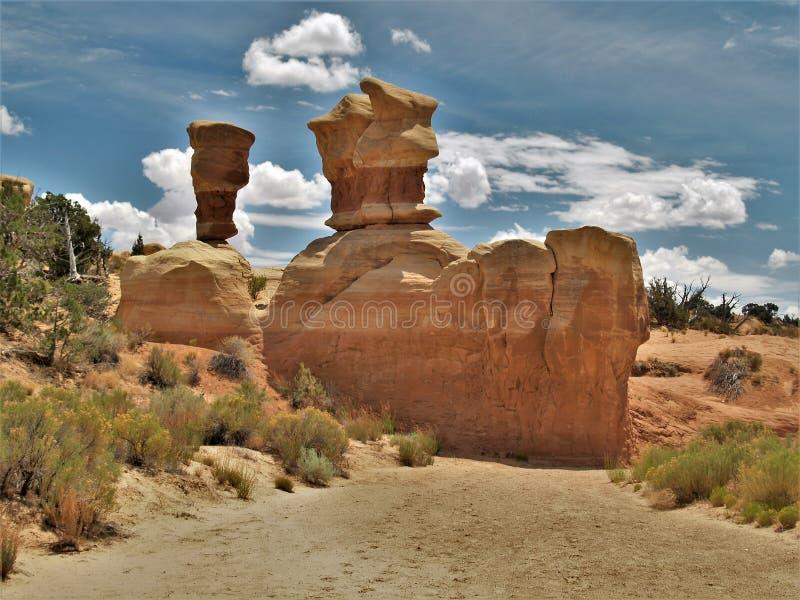 Formaciones de la piedra arenisca del jardín del ` s del diablo imagen de archivo libre de regalías