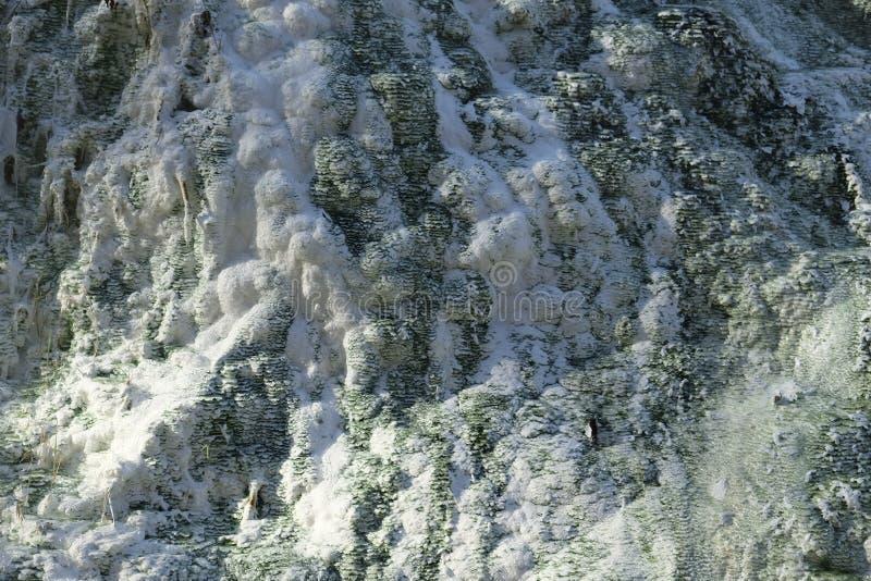 Formaciones de la piedra caliza en las aguas termales foto de archivo libre de regalías