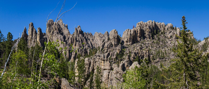 Formaciones de roca de Black Hills imagen de archivo libre de regalías