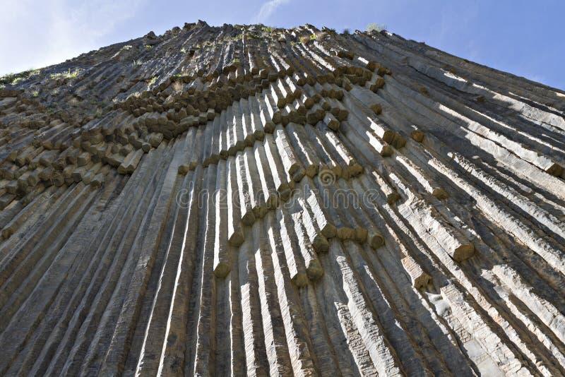 Formaciones de roca del basalto conocidas como sinfonía de las piedras, en Armenia fotografía de archivo libre de regalías