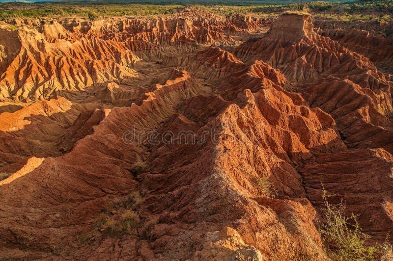 Formaciones de roca del desierto de Tatacoa fotografía de archivo libre de regalías