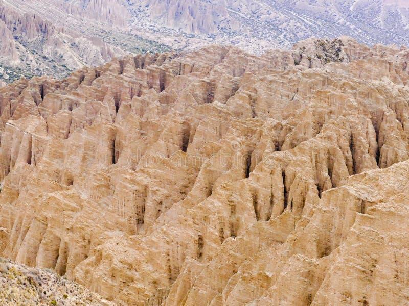 Formaciones de roca en Canon Del Inca, gama de Tupiza Chichas, los Andes, Bolivia al sudoeste, Suramérica fotos de archivo