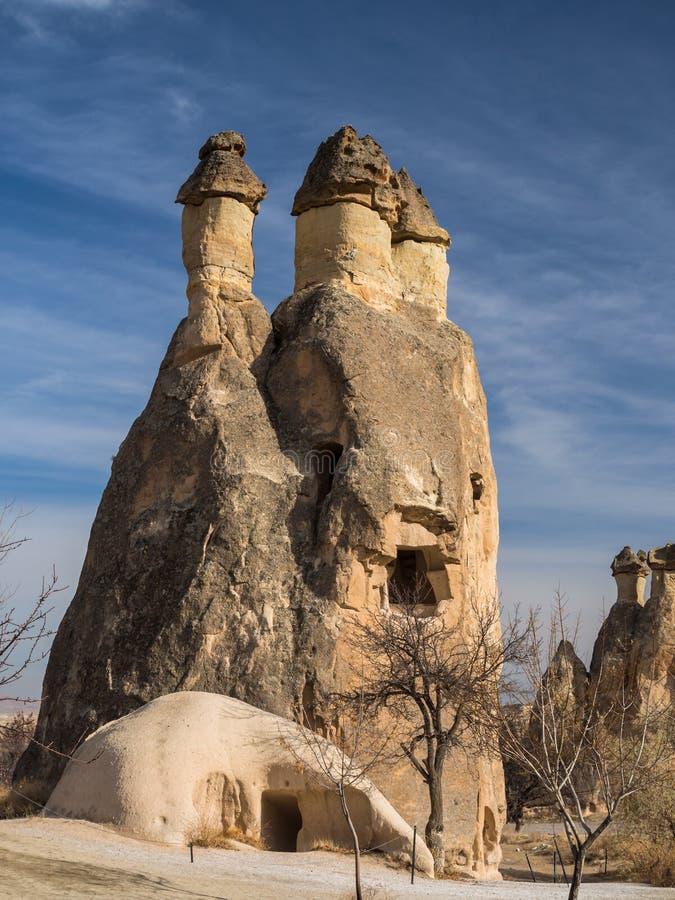 Formaciones de roca en Cappadocia, Turquía imagen de archivo
