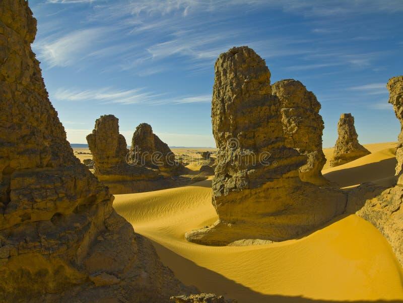 Formaciones de roca en desierto imágenes de archivo libres de regalías