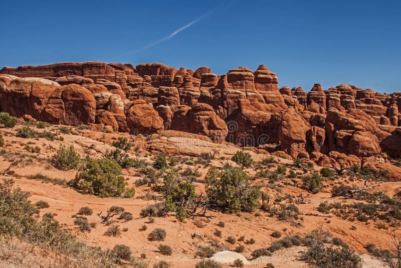 Formaciones de roca en el jardín del ` s del diablo 2 fotos de archivo