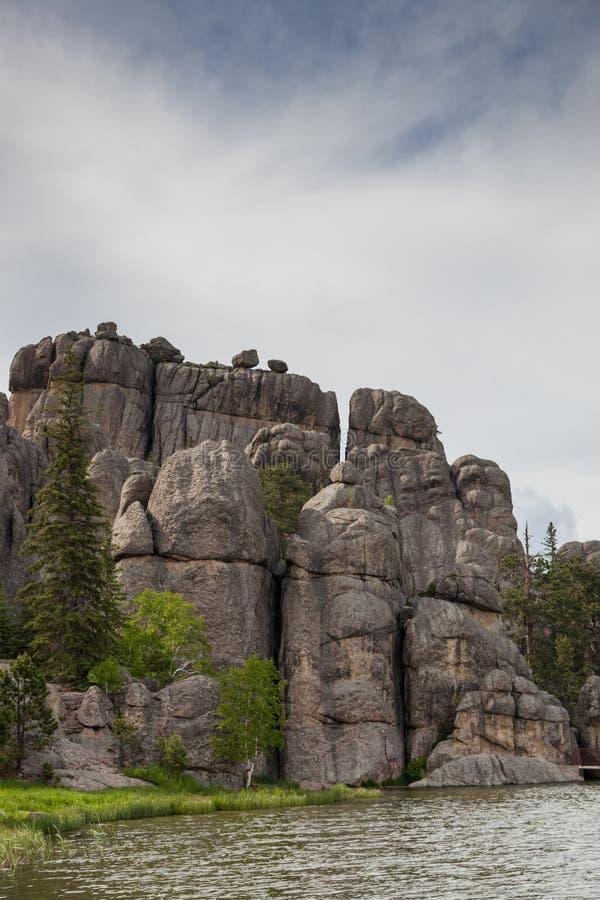 Formaciones de roca en Sylvan Lake imagen de archivo