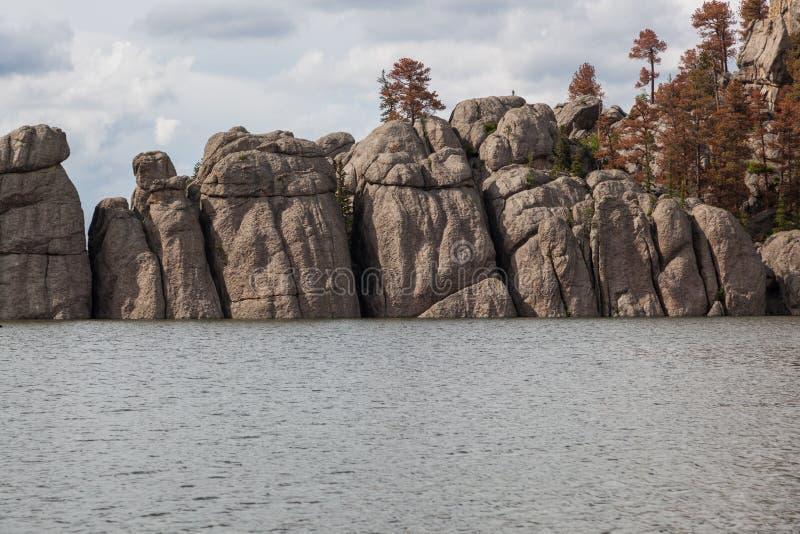 Formaciones de roca en Sylvan Lake foto de archivo libre de regalías