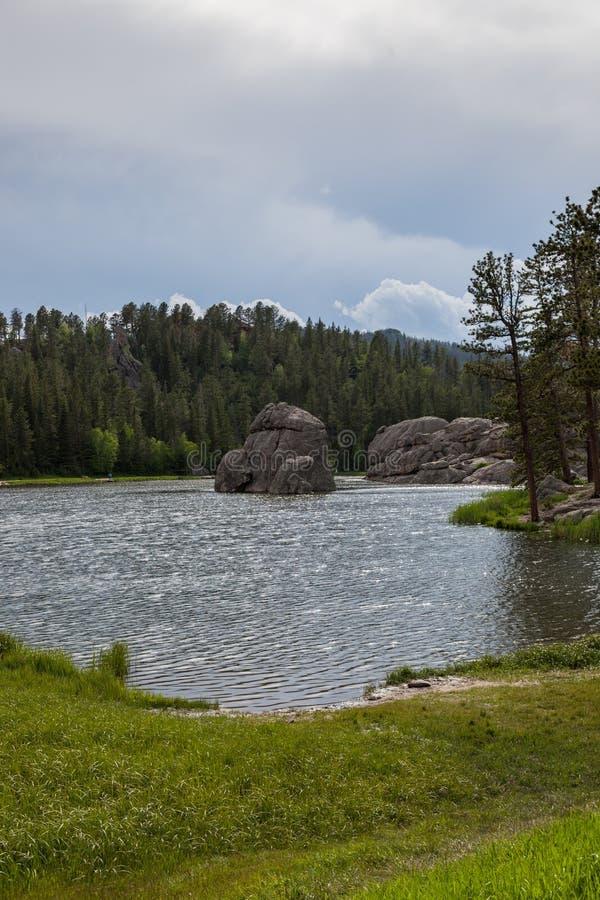 Formaciones de roca en Sylvan Lake foto de archivo