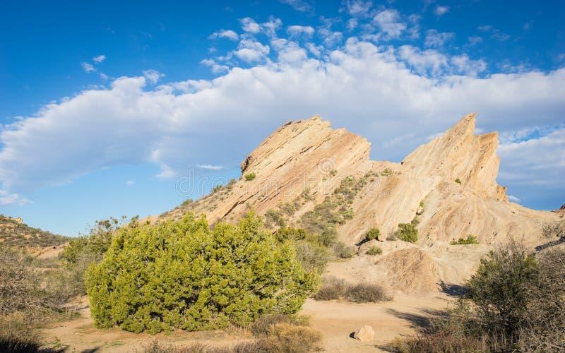 Formaciones de roca geológicas del desierto fotografía de archivo