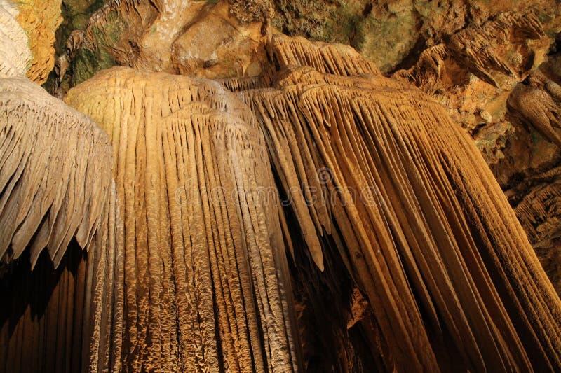Formaciones subterráneos de las cavernas de Luray fotografía de archivo libre de regalías