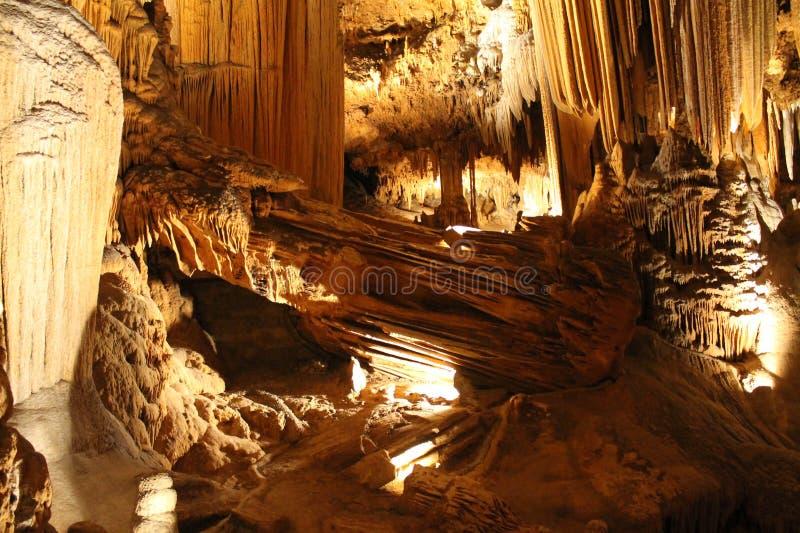 Formaciones subterráneos de las cavernas de Luray foto de archivo