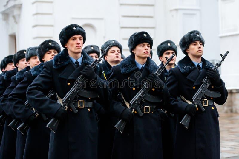Formacja Prezydencki pułk usługa Moskwa Kremlin's Commandant obrazy royalty free