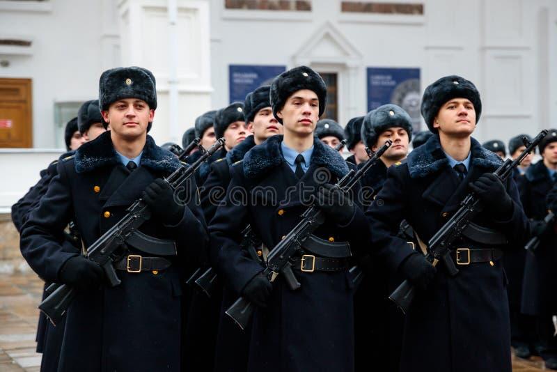 Formacja Prezydencki pułk usługa Moskwa Kremlin's Commandant zdjęcie royalty free