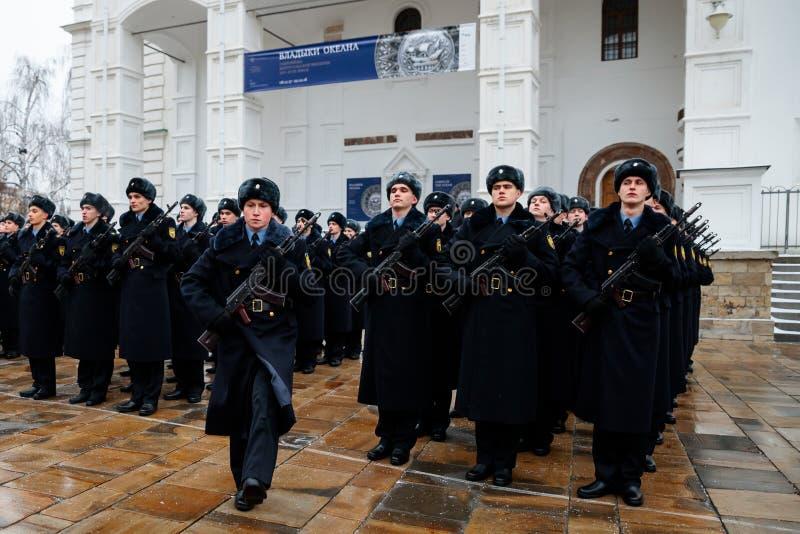 Formacja Prezydencki pułk usługa Moskwa Kremlin's Commandant obraz royalty free