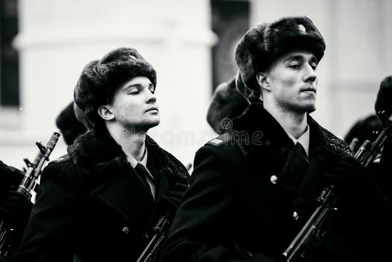 Formacja Prezydencki pułk usługa Moskwa Kremlin's Commandant obrazy stock